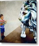 The Boy And The Lion 10 Metal Print