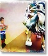 The Boy And The Lion 11 Metal Print