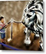 The Boy And The Lion 13 Metal Print