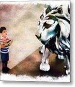 The Boy And The Lion 9 Metal Print