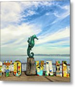 The Boy On The Seahorse Pano Metal Print