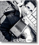 The Brave Accordion Player Metal Print