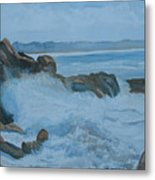 The Breakers Below Yaquina Head I Metal Print