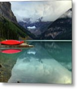 The Breathtakingly Beautiful Lake Louise Banff National Park Metal Print