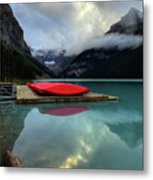 The Breathtakingly Beautiful Lake Louise II Metal Print