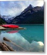 The Breathtakingly Beautiful Lake Louise Iv Metal Print