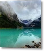 The Breathtakingly Beautiful Lake Louise Vi Metal Print
