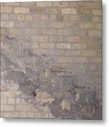 The Brick Wall - Historic Bldg Metal Print