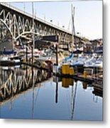 The Bridge And Marina Metal Print