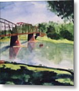 The Bridge At Ft. Benton Metal Print by Andrew Gillette