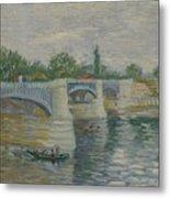 The Bridge At Courbevoie Paris, May - July 1887 Vincent Van Gogh 1853  1890 Metal Print
