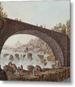 The Bridge At The Border Between France And Savoy Metal Print
