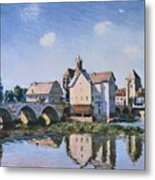 The Bridge Of Moret In The Sunlight Metal Print