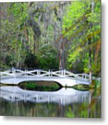 The Bridges In Magnolia Gardens Metal Print