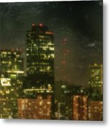 The Bright City Lights Metal Print