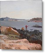 The Bronx Rocky Shore Metal Print