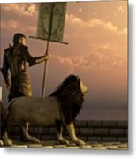 The Bronze Knight Of The Isle Of Lions Metal Print