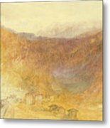 The Brunig Pass From Meiringen Metal Print