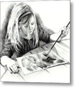 The Budding Artist Metal Print