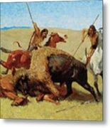 The Buffalo Hunt Metal Print