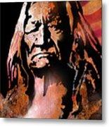 The Buffalo Hunter Metal Print