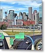 The Buildings Of Boston Metal Print