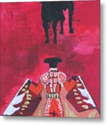 The Bull Fight  No.1 Metal Print