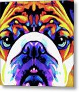The Bulldog By Nixo Metal Print