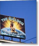 The Bulldog On Top Of The World Metal Print