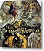 The Burial Of The Count Of Orgaz 1587 Metal Print