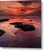 The Burning Cloud Metal Print