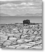 The Burren Landscape Ireland Metal Print