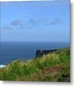 The Burren Pathway Along The Cliff's Of Moher Metal Print