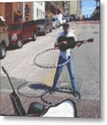 The Busker King Metal Print