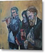 The Buskers Metal Print