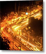 The Busy City Metal Print