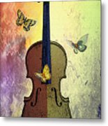 The Butterflies And The Violin Metal Print