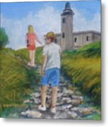 The Cabo Rojo Light House In Puerto Rico Metal Print