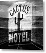 The Cactus Motel Metal Print