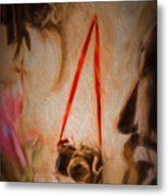The Camera On The Wall Metal Print