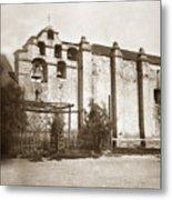 The Campanario, Or Bell Tower Of San Gabriel Mission Circa 1880 Metal Print