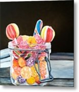 The Candy Jar Metal Print