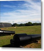The Cannons At Fort Moultrie In Charleston Metal Print