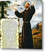 The Canticle Of The Creatures By St. Francis Of Assisi Metal Print