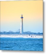 The Cape May Light House Metal Print