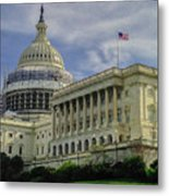 The Capitol Under Construction Metal Print
