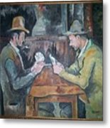 The Card Players Metal Print