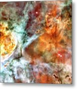 The Carina Nebula Panel Number Two Out Of A Huge Three Panel Set Metal Print