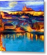 The Castle And The River Metal Print
