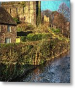 The Castle At Brecon Metal Print